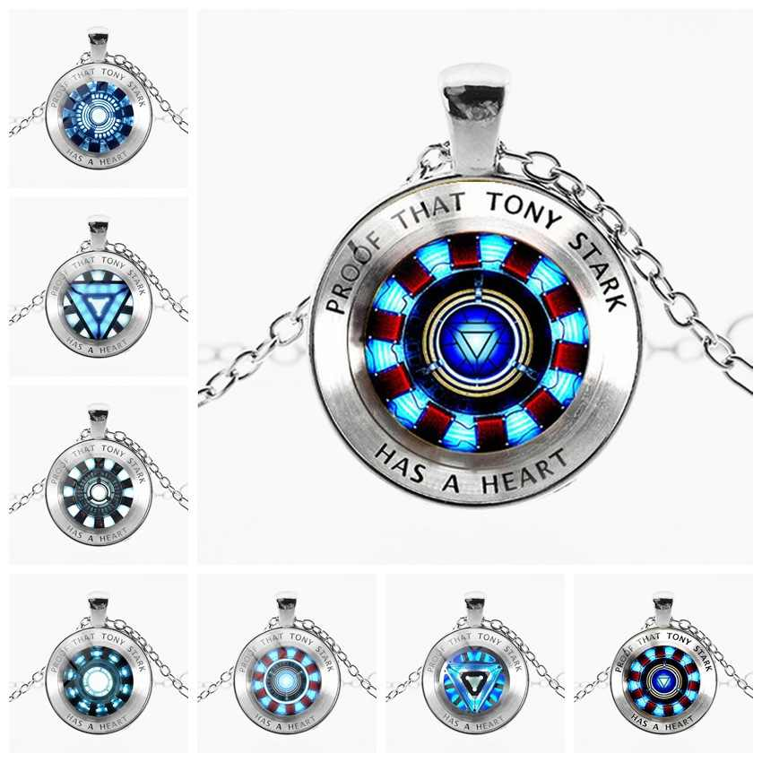 Marvel avenger endgame Iron Man arc reactor collana Tony Stark Collana pendente di Quantum Regno del pendente action Figure toy cosplay uomo bambino