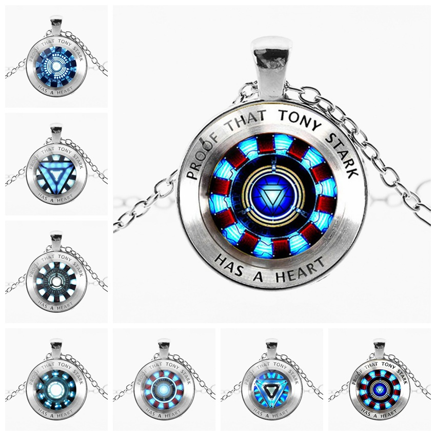 marvel avenger endgame Iron Man arc reactor necklace Tony Stark Necklace Quantum Realm pendant action Figure toy cosplay men kid-in Action & Toy Figures from Toys & Hobbies