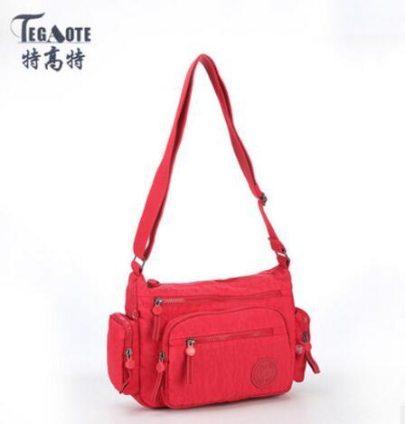 2017 Fashion TEGAOTE Women Messenger Bags Crossbody Bag Nylon Waterproof Female Shoulder Bag Designer Ladies Handbags 954
