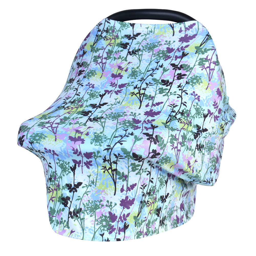 Dual Purpose Baby Strollers Sunshade Cloth Shopping Cart Cover Cotton Design Color Mother Suckling Towel Anti-emptied Shawl