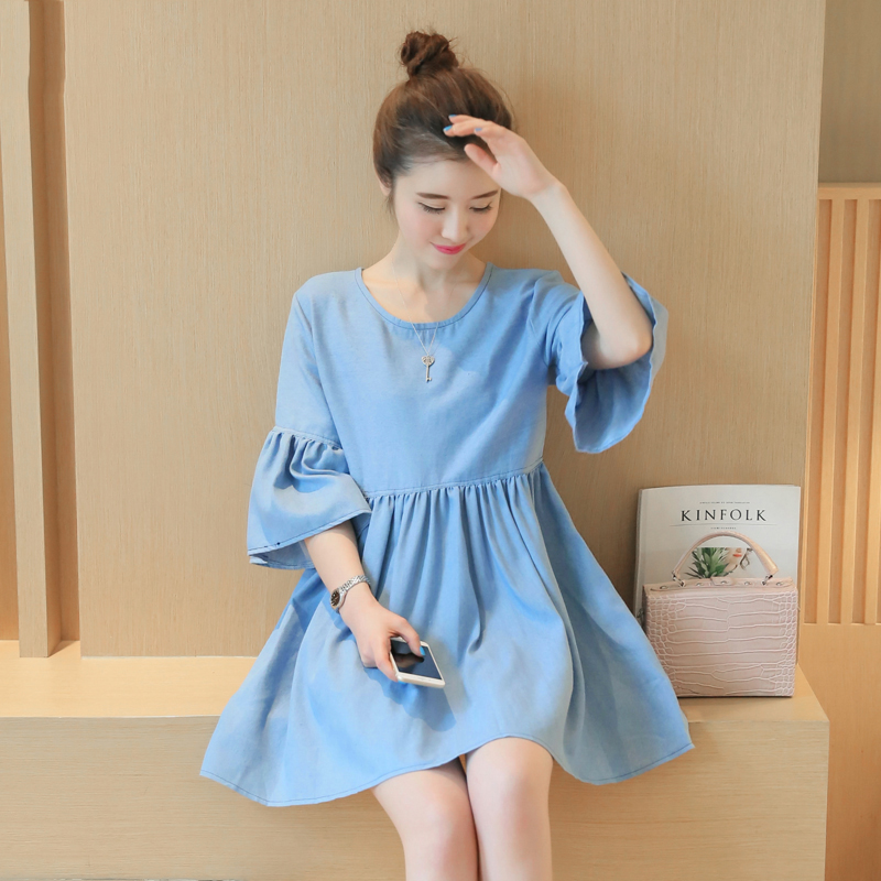 Pregnancy Clothes For Denim Maternity Dress Skirt Vestido ...