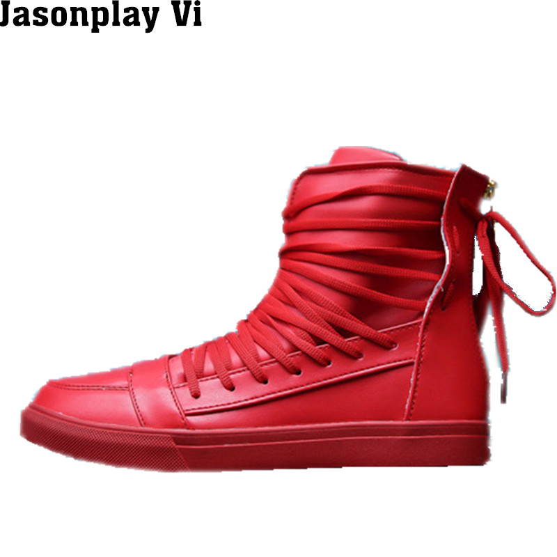 ФОТО Jasonplay Vi & 2016 New Brand Fashion personality Shoes Men solid color Casual Shoes Men Breathable slip Hip-hop Shoes WZ200
