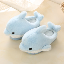 Autumn/winter Children Girls Home Slippers Shoes Cute Dolphin Kids Cotton Slippers Non-slip Boys Indoor Warm Shoes Fashion