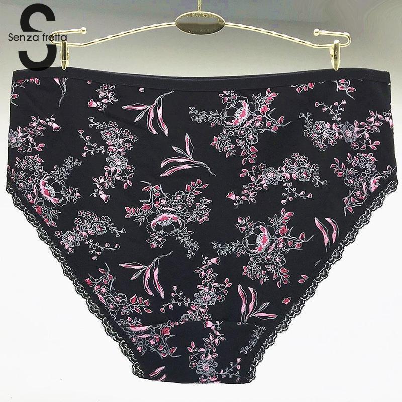 c12dca373725 Large Size Cotton Briefs Underwear Women Fashion Flower Print Cotton  Panties Underwear Mummy Large Comfortable Panties NYU1820-in women's panties  from ...