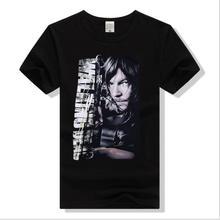New VanMe 2017 Mens The Walking Dead Daryl Dixon cranium T Shirts T-Shirt Hip Hop Skateboard Street Cotton T-Shirts Tee #a48