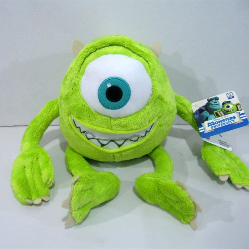 1pcs 25cm Mike Monsters University Monster Mike Wazowski Plush Toys Monsters Inc Plush Toys For Best Gift