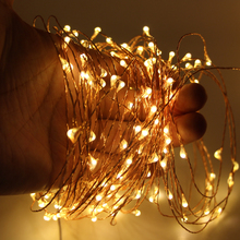 10m 20m 50m LED String Light Waterproof LED Copper Wire String Holiday