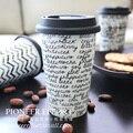 Двойной слой теплоизоляции чашки творческая чашка кофе кружки с крышкой керамические кружки