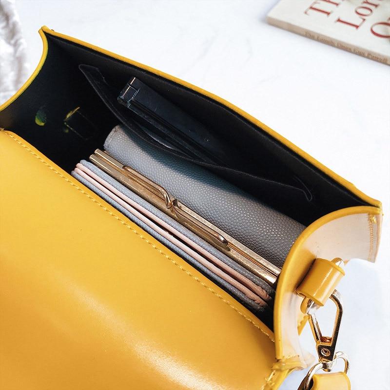 New Women Fashion Width Shoulder Bags INS Popular Female Exquisite Solid Handbag Mini Flap Lady Travel Chains Crossbody SS3474 (10)