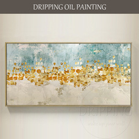 Artist Hand painted High Quality Abstract Oil Painting on Canvas Light Colors Modern Abstract Oil Painting for Wall Decoration