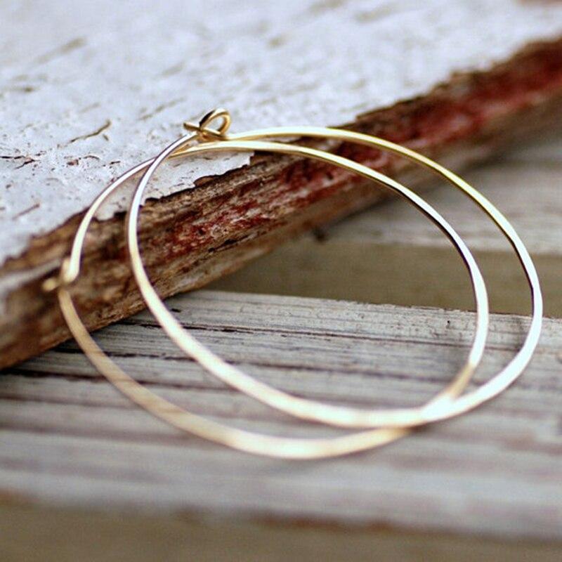 Handmade Hoop Earrings Jewelry Charm Hammered 14 Gold Filled Brincos Pendientes Customied Earrings for Women Oorbellen