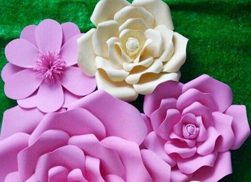 nuevo ao decoracin de flores grandes flores de papel para decorar la sala de ventana de