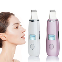Ultrasonic Skin Scrubber LCD Powered Facial Cleansing Devices Blackhead Remover Face Spatula Facial Exfoliators Pores Cleanser