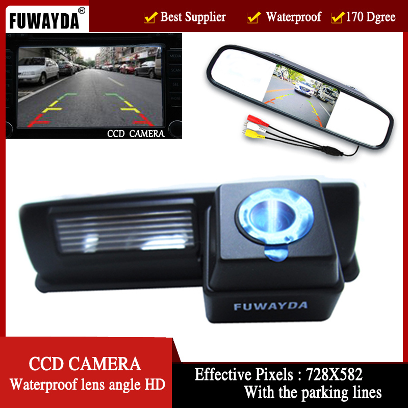 FUWAYDA CCD Car Rear View Camera for Toyota HARRIER / ALTEZZA / PICNIC / ECHO VERSO / CAMRY 4.3 Inch Rear view Mirror Monitor цена