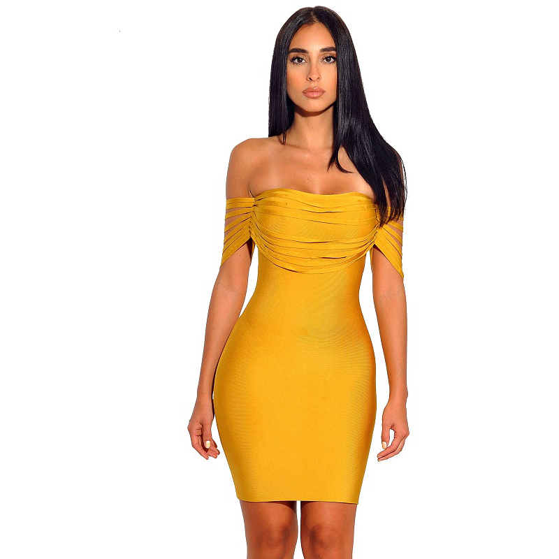 Women Off Shoulder Midi Dresses Empire Autumn Slash Neck Strapless Solid Night Club Party Wear Dresses For Ladies Drop Shipping