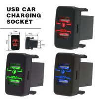 Enchufe de cargador de coche QC 3,0 de alta calidad adaptador de corriente de carga rápida con puerto USB Dual y toma divisora