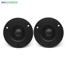 MACGARSEN 2pcs Silk Film Tweeter Speaker 74mm 20W 4 ohm 8ohm HIFI Neodymium Tweeter Unit Fiber DIY Treble Horn Audio Loudspeaker