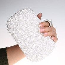 Neue Frauen Abendtasche Perle Knucklebox Frauen Geldbörsen und Handtaschen Kupplung für Party Hochzeit