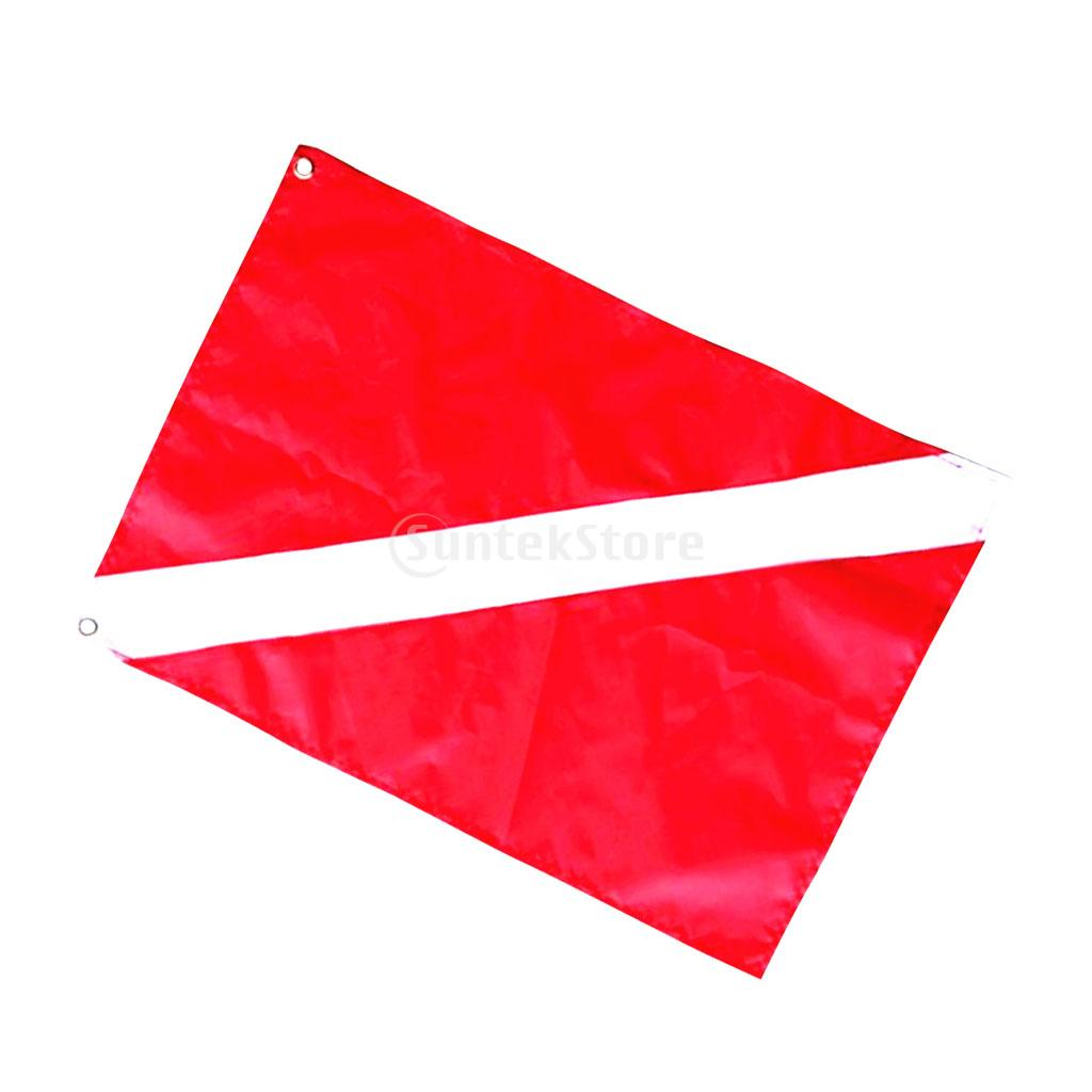 Red & White Scuba Diver Down Flag Boat Signal Marker Banner with Diving Stick Pointer Rod Tank Banger