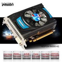 Yeston Radeon RX 550 font b GPU b font 4GB GDDR5 128bit Gaming Desktop computer PC