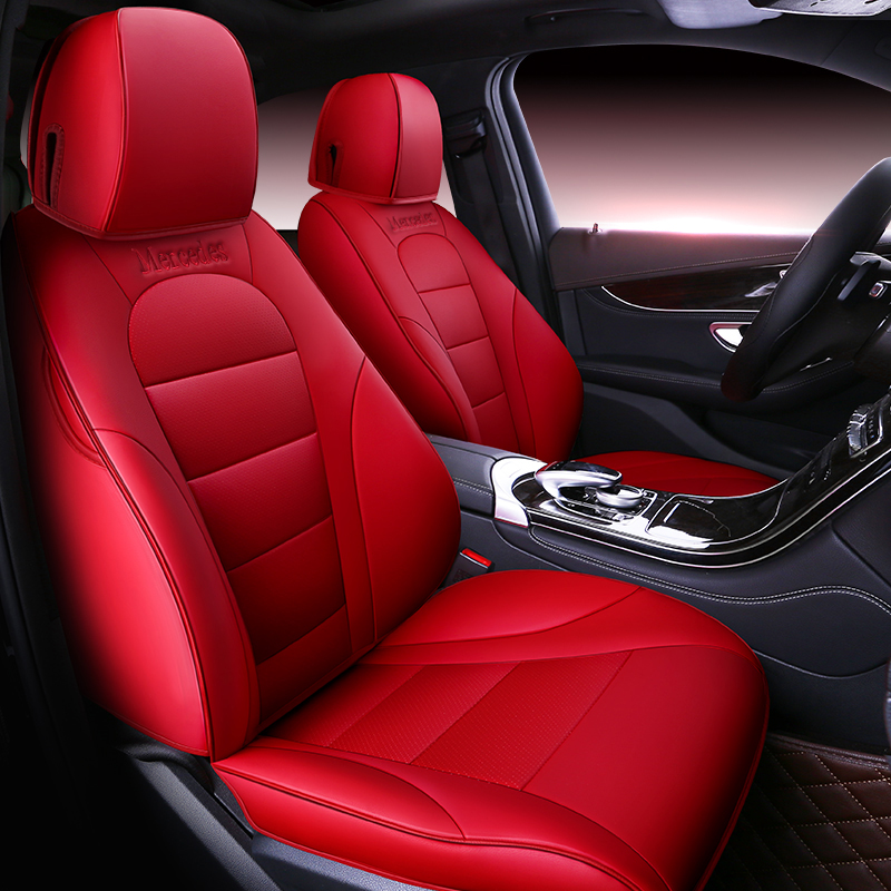 Dedicated custom leather car seat covers car styling for Mercedes-Benz C-class Mercedes-Benz GLC
