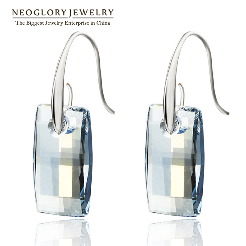 neoglory made with swarovski elements crystal chandelier hook long big dangle earrings for women bridesmaid - Swarovski Crystal Chandelier