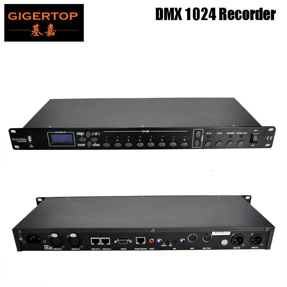 Gigertop TP-D1370 Club Lighting Device 512 DMX Recorder Built-in 512M Storage, Stored In 8 Program Microphone Pickup, AV Audio