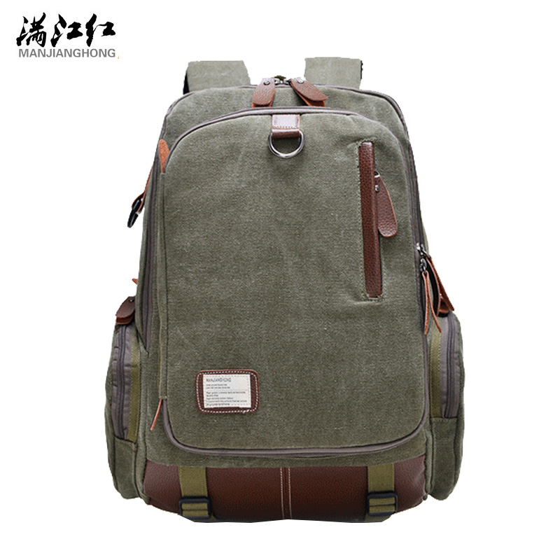 Manjianghong Men Backpacks Bags Canvas Multifunction Backpack Male Retro Large Capacity Laptop Bags High Quality Men Backapack high quality retro style men backpack multifunction casual travel canvas backpacks daily rucksack cotton canvas backpack