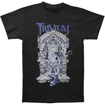 Camiseta auténtica TRIVIUM Band Durga Heavy Metal S-3XL nueva camiseta pantalón corto Casual manga para hombres