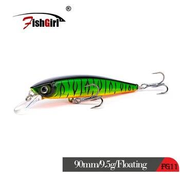 2019 новая японская дизайнерская рыболовная приманка бренда Wobbler, плавающая блесна, рыболовная приманка 90 мм 9,5 г, жесткая искусственная прима...