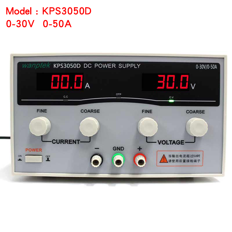 High quality Wanptek KPS3050D High precision Adjustable Display DC power supply 0-30V 0-50A High Power Switching power supply