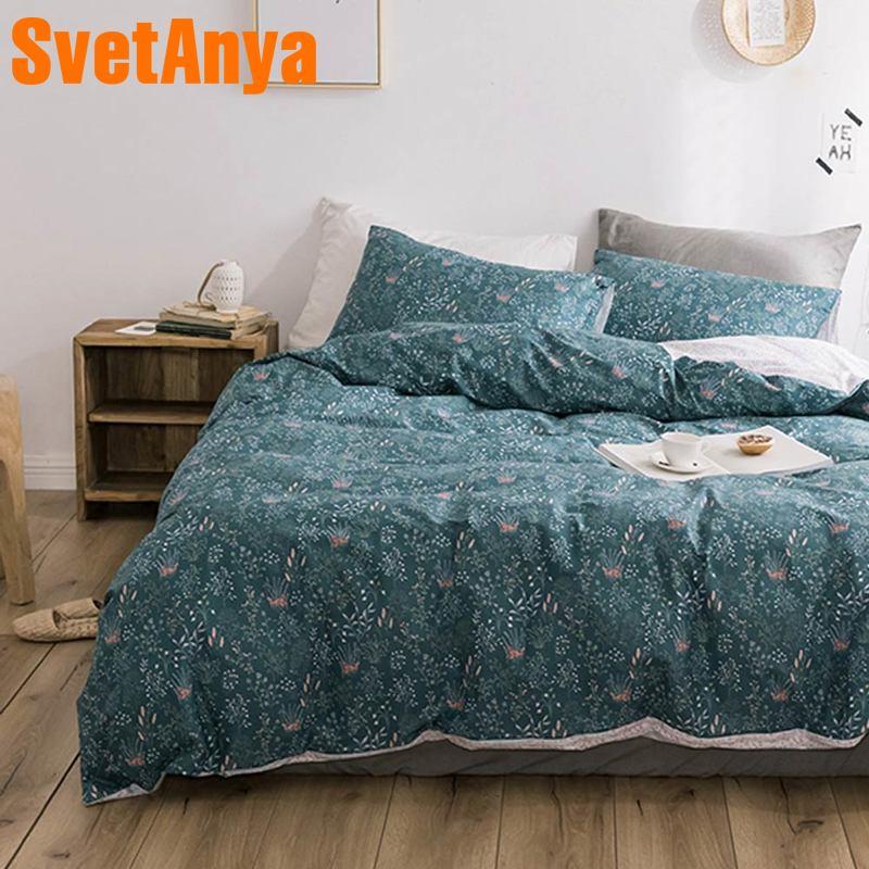 Svetanya Pastoral Cotton Bedding Set Print Bed Linen For Children Or Adults