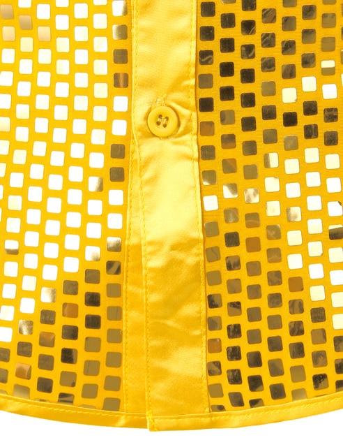 Vestido de lantejoulas de luxo masculino camisas de manga longa cetim de seda brilhante disco festa camisa men chemise palco dança discoteca baile traje