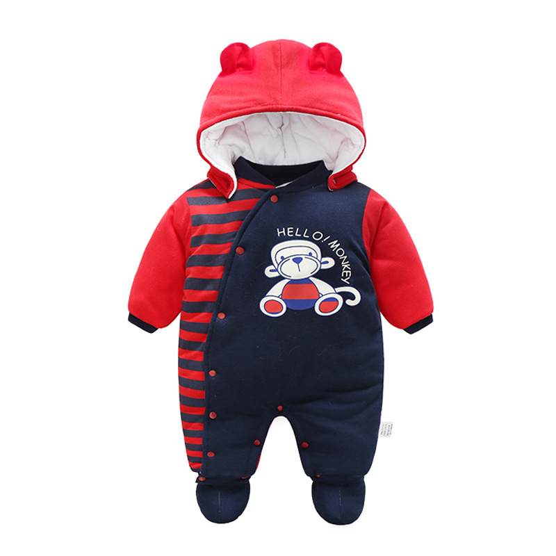 Godier 2017 Winter Baby Rompers & Shoes Boy Girl Coat Cartoon Suit Children Clothes Newborn Cute Kids Down Hooded Jumpsuit Set cute puppy baby girl clothes set children hoodies 2017 winter new boy hooded cashmere sweater kids thick two piece suit