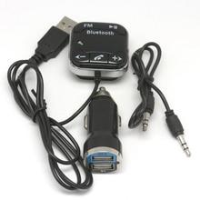 Универсальный A2DP магнитный автомобильный набор, свободные руки, Беспроводной Bluetooth FM передатчик MP3 плеер 3,5 мм вход для источника аудио-сигнала TF слот для карт двойной Порты и разъёмы Зарядное устройство