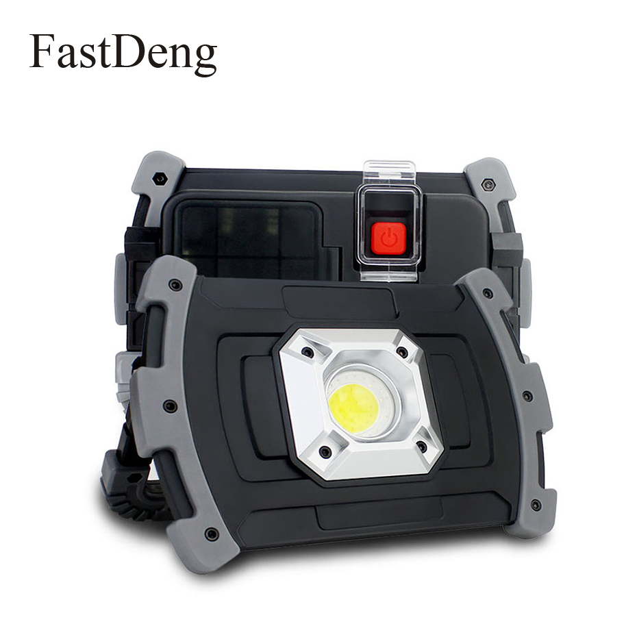 High Bright LED Portable Spotlight Floodlight 20W Outdoor Waterproof Lighting USB Rechargeable Led Work Light For Garden Lawn
