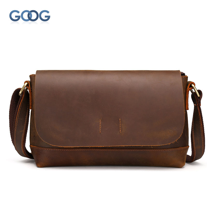 The new retro mad horse skin Messenger bag shoulder bag head layer of leather cross section square package covered men wave square cross section of the new square leather small square bag double sided multi color leather messenger bag shoulder messenge
