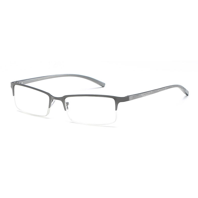 073 Half Rim Optical Alloy Eyeglasses Metal Men Eyeglasses Non Spherical Unisex Reading Glasses 1 0 1 5 2 0 2 5 3 0 3 5 4 0 in Men 39 s Reading Glasses from Apparel Accessories