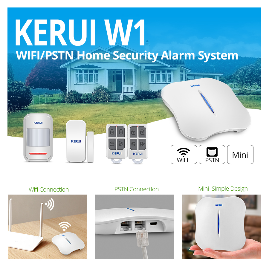 KERUI W1 Безжична домашна сигурност WIFI PSTN - Сигурност и защита - Снимка 2