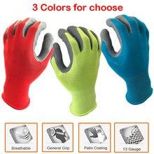 NMSafety 12 זוגות מגן עבודת כפפות לגינון תעשיית עם צבעוני פוליאסטר טבילה קצף לטקס בטיחות עבודה כפפות