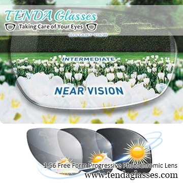 1 56 Free Form Multifocal Prescription Sunglasses Transition Lens Photochromic Progressive Lenses