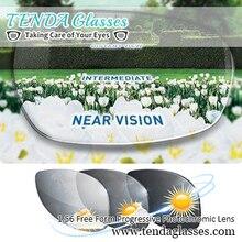 แว่นตากันแดดตามใบสั่งแพทย์การเปลี่ยนเลนส์ Multifocal เลนส์โปรเกรสซีฟ Photochromic