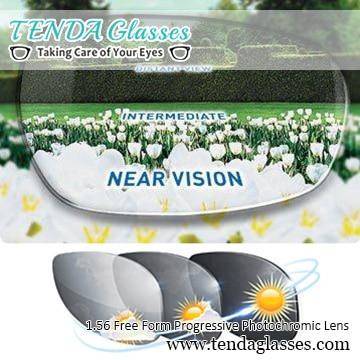 1.56 الشكل الحر متعدد البؤر وصفة النظارات الشمسية عدسة الانتقالية العدسات اللونية التقدمية