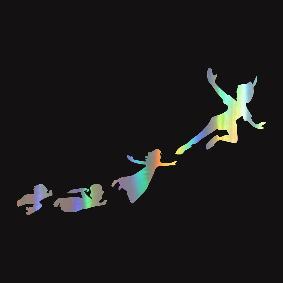 anycuros peter pan gang flying fashion car styling stickers decals