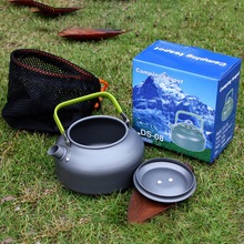 1.1L Camping Kettle Outdoor Coffee Kettle Camping Tableware Travel Tableware Outdoor Picnic Set 2018