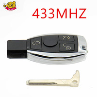 433MHz Without Logo 3 Buttons Smart Remote Key For Mercedes For Benz With NEC Chip Optional