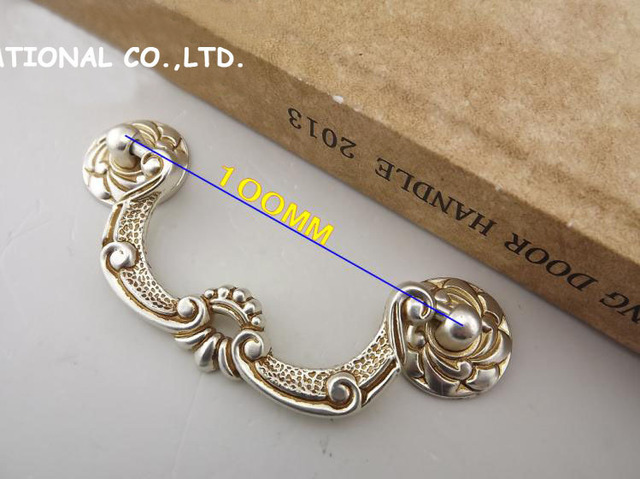 L100mm Free shipping zinc alloy furniture cabinet handle drawer handle