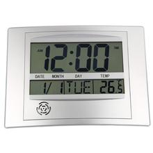 LCD Digital Wall Clock With Thermometer Electronic Temperature Meter Calendar Indoor Desk Digital Wall Clock home