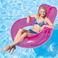 inflatable pool float kdis adult 135*114cm pvc giant games inflatable water floats mattress animals floating island swimming