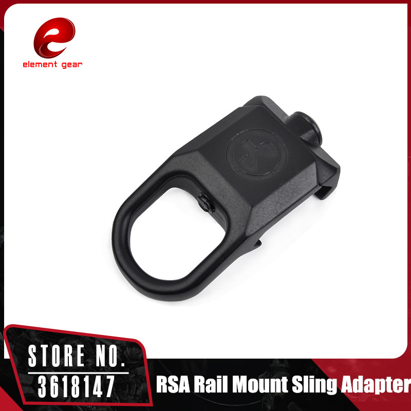 Element Low Sling Swivel Plate Clip Hook RSA Rail Mount Sling Adapter Loop 20mm Rail Mount Outdoor Travel CY605